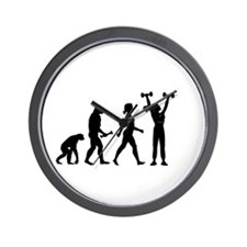 Female Weightlifter Evolution Wall Clock
