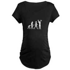 Female Weightlifter Evolution Maternity T-Shirt