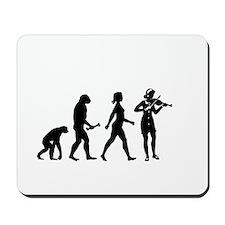 Violin Player Evolution Mousepad