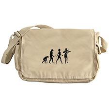 Violin Player Evolution Messenger Bag