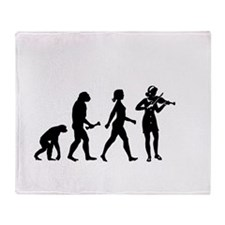 Violin Player Evolution Throw Blanket