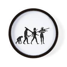 Violin Player Evolution Wall Clock