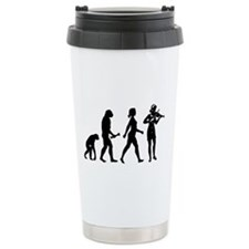 Violin Player Evolution Travel Mug