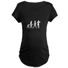 Violin Player Evolution Maternity T-Shirt