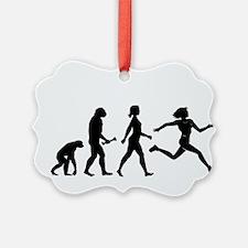 Female Runner Evolution Ornament