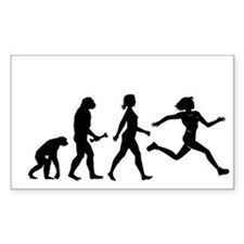 Female Runner Evolution Sticker
