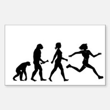 Female Runner Evolution Decal