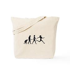 Female Runner Evolution Tote Bag