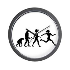 Female Runner Evolution Wall Clock