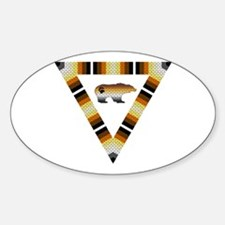 PRIDE BEAR IN TRIANGLE Oval Decal