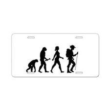 Female Hiker Evolution Aluminum License Plate