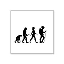 Female Hiker Evolution Sticker