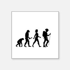 Female Hiker Evolution Sticker