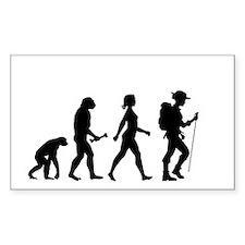Female Hiker Evolution Decal