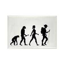 Female Hiker Evolution Magnets