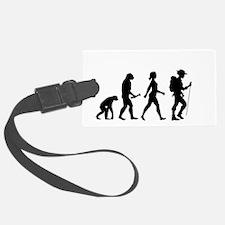 Female Hiker Evolution Luggage Tag