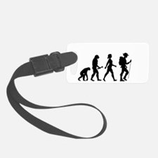 Female Hiker Evolution Luggage Tag