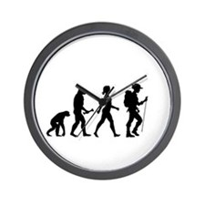 Female Hiker Evolution Wall Clock