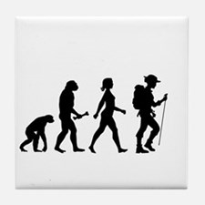 Female Hiker Evolution Tile Coaster
