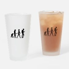 Female Hiker Evolution Drinking Glass