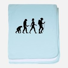 Female Hiker Evolution baby blanket