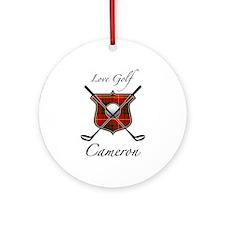 Clan Cameron - Love Golf Ornament (Round)