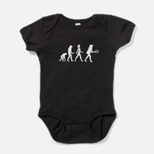 Female Tennis Player Evolution Baby Bodysuit