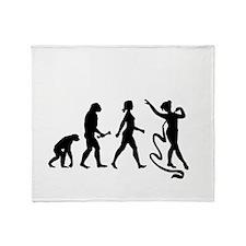 Ribbon Gymnast Evolution Throw Blanket