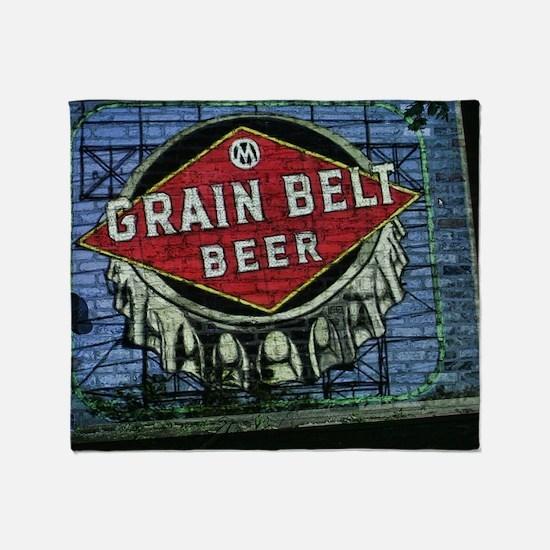 grain belt Throw Blanket