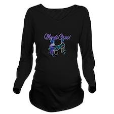Mardi Gras Carnival Long Sleeve Maternity T-Shirt