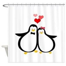 Penguin Couple Shower Curtain