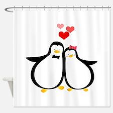 Penguin Couple Shower Curtain