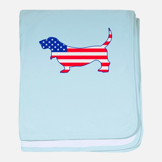 American Basset baby blanket