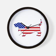 American Basset Wall Clock