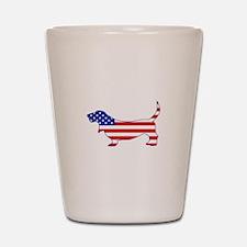 American Basset Shot Glass