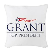 Grant For President Woven Throw Pillow