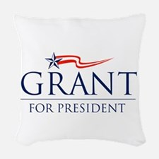 Grant For President Woven Throw Pillow
