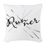 Abstract Runner Woven Throw Pillow