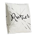 Abstract Runner Burlap Burlap Throw Pillow