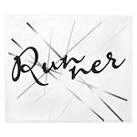 Abstract Runner King Duvet
