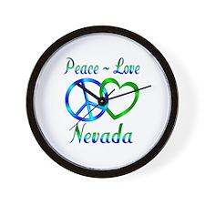 Peace Love Nevada Wall Clock