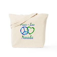 Peace Love Nevada Tote Bag