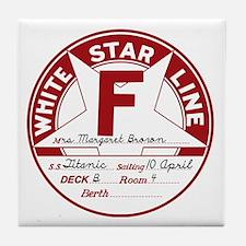 "White Star Line Luggage Tag- ""Molly B Tile Coaster"
