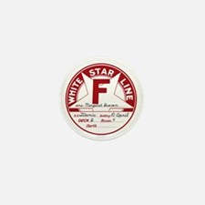 "White Star Line Luggage Tag- ""Molly Br Mini Button"