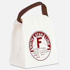 "White Star Line Luggage Tag- ""Mol Canvas Lunch Bag"