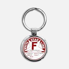 "White Star Line Luggage Tag- ""Molly Round Keychain"