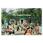 Doggie Cottage Large Poster