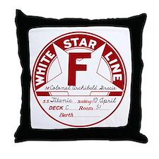 White Star Line Luggage Tag- Col. Arc Throw Pillow