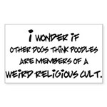 I Wonder If Other Dogs... Sticker (Rectangle)