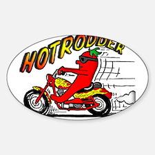 Hotrodder Oval Decal